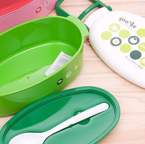 Bento 3 compartiments vert