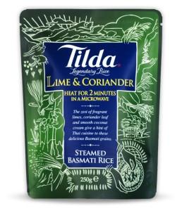 Riz cuit Tilda saveur citron vert et coriandre 250 g