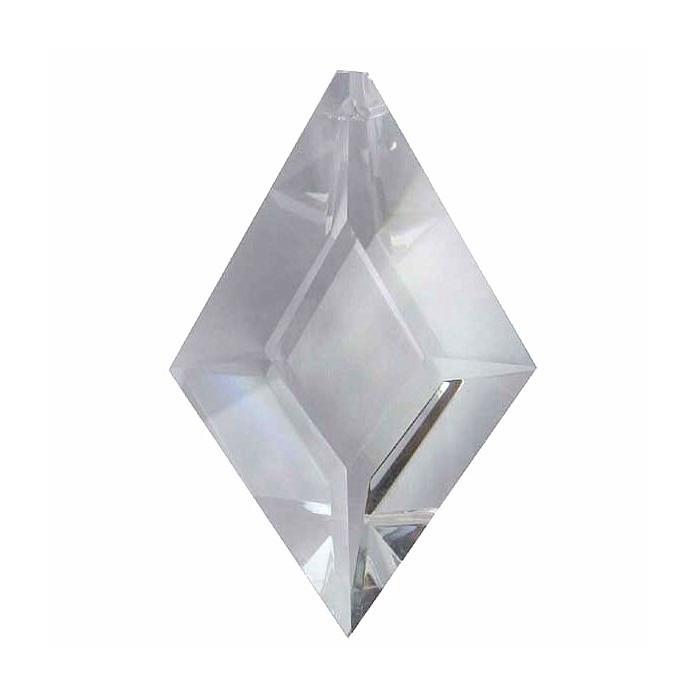 Cristal à facettes en forme de losange