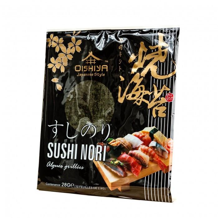 Algue nori pour sushi 10 feuilles 28 g Oishiya