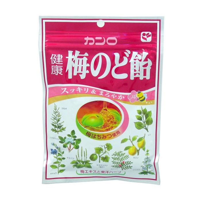 Bonbons aux plantes (miel et  prune) Kanro 90g