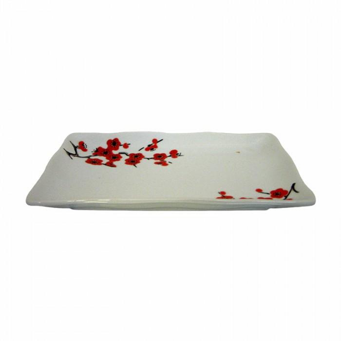 Assiette fleur de cerisier Saki 19x12 cm