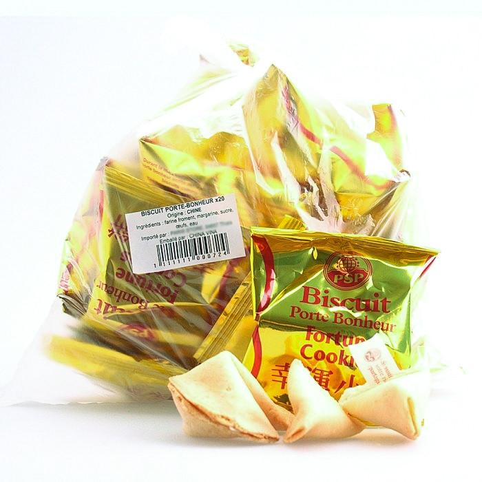Biscuit porte-bonheur 20 pièces 120g