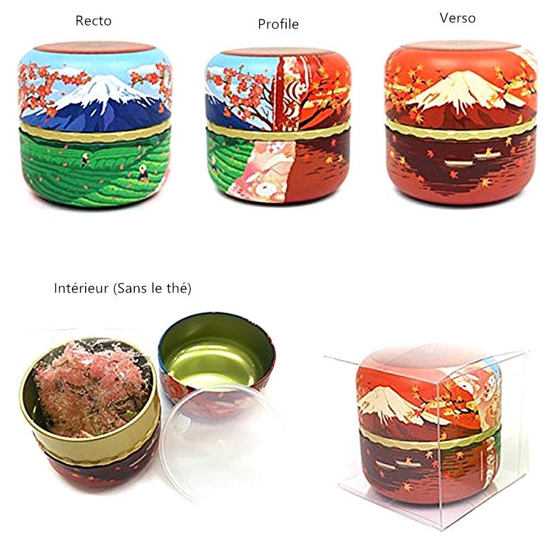 Boite à thé hermétique en métal Mont Fuji