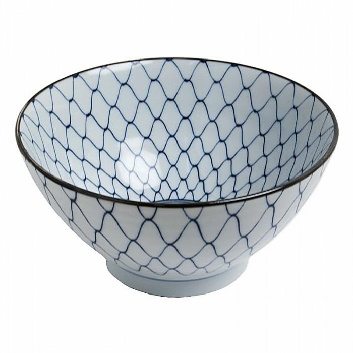 Bol bleu filets de pêche 18cm