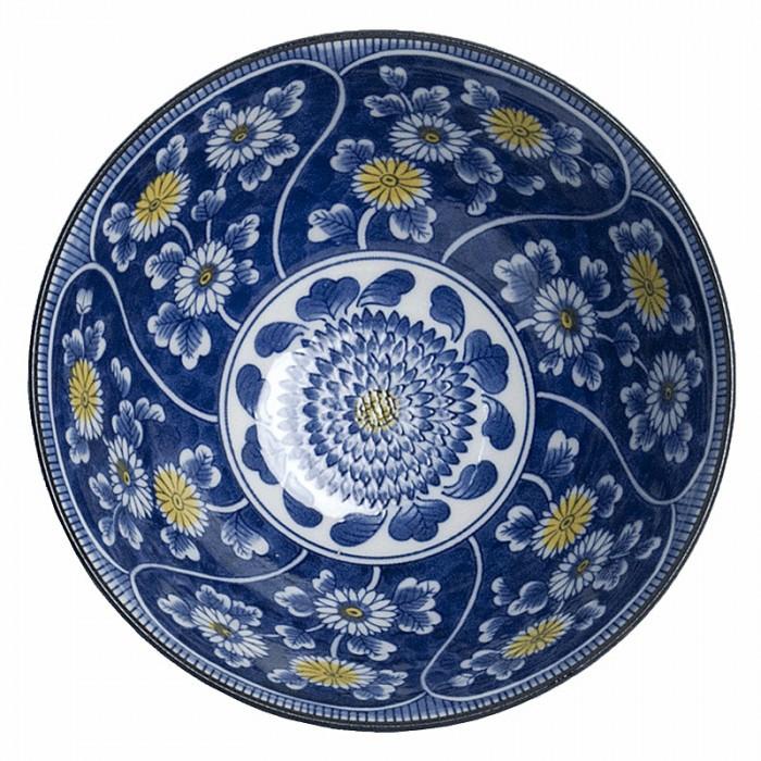 Bol japonais motifs Chrysanthème 18cm