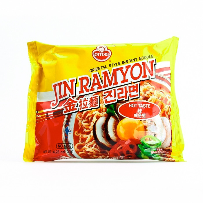 Carton de 20 Soupe de nouilles saveur épicé (Jin Ramyun) 120g