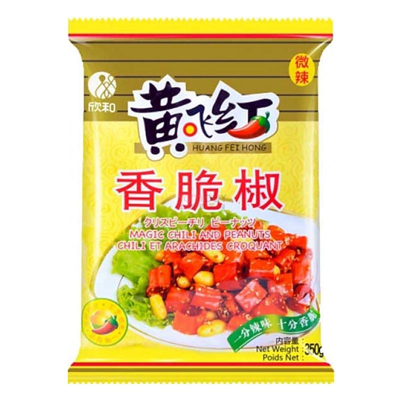 Chili et arachides croquants 350g Huang Fei Hong