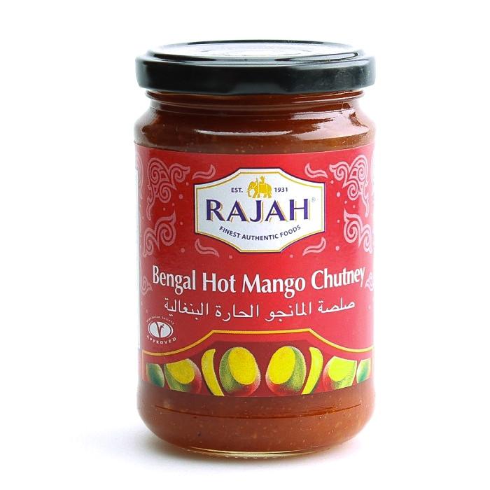Chutney (sauce) épicé et sucré à la mangue du Bengal 340g