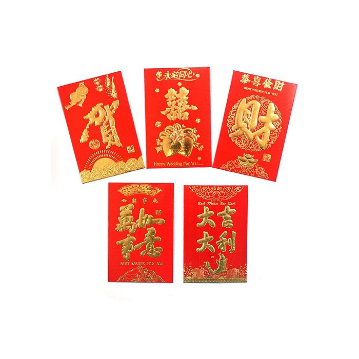 Enveloppe rouge chinois (hong bao) 1 pièce