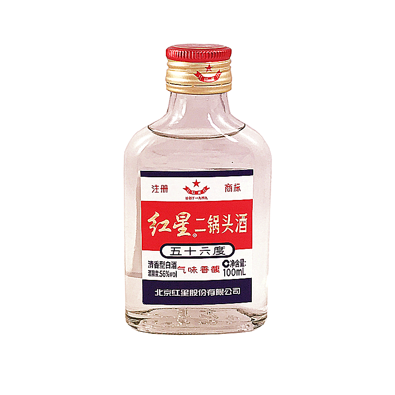 Alcool de Sorgho (Er Guo Tou) Red Star 100ml 56%