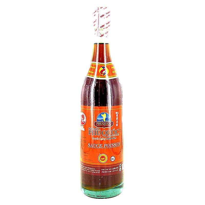 Sauce de poisson 25° « PHÚ QUỐC » (25°富国鱼水)-Cock Brand-650ml