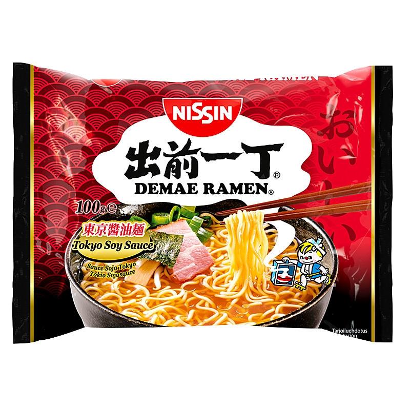 Nouilles saveur sauce soja Tokyo(出前一丁东京酱油面)-Nissin-100g