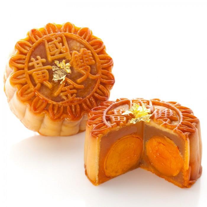 Gâteaux de lune au pâte de lotus (2 jaunes d'oeuf) 180g