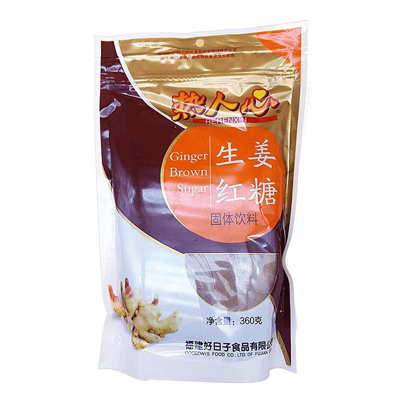 Sucre roux au gingembre 360g Rerenxin