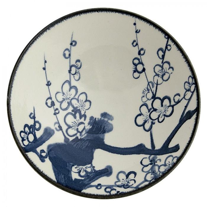 Grand bol plat japonais fleur de cerisier 24,5cm