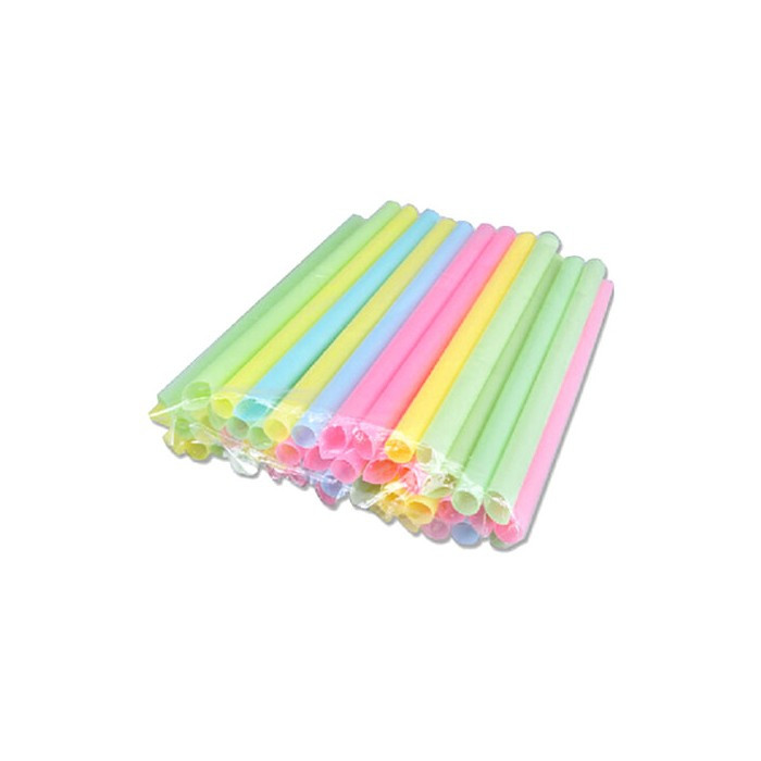 Lot de 10 pailles pour bubble tea XXL
