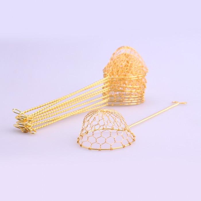 Passoire (louche) doré pour fondu 10 pièces
