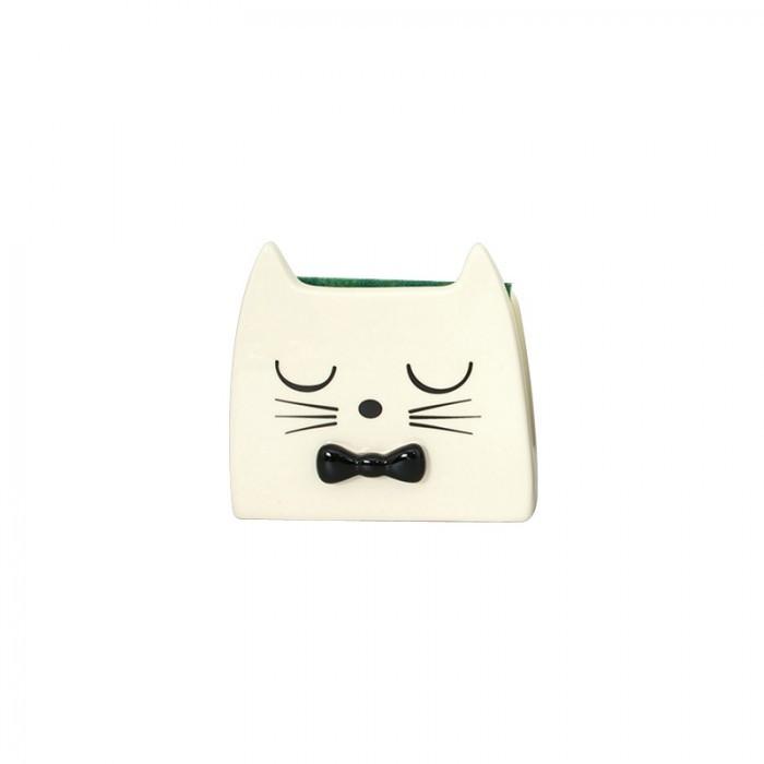 Porte éponge céramique chat