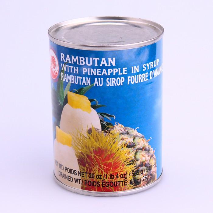 Rambutan au sirop fouré d'ananas 565g