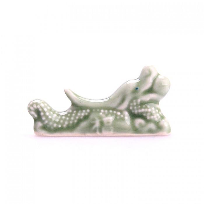 Repose baguettes céramique dragon vert