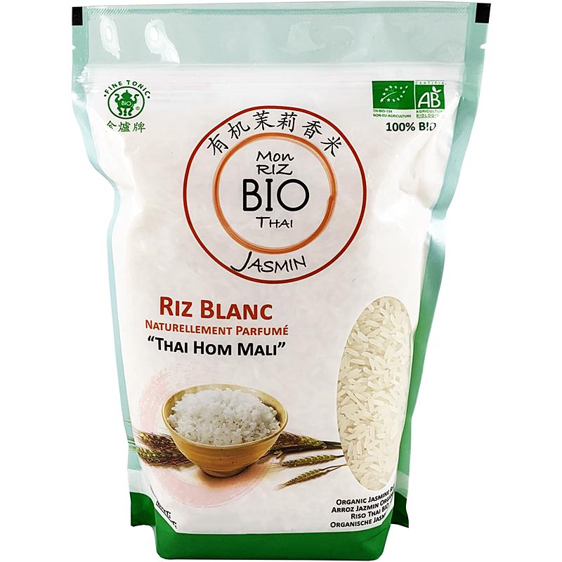 Mon riz blanc Bio Thai parfum Jasmin, Thai Hom Mali,5kg