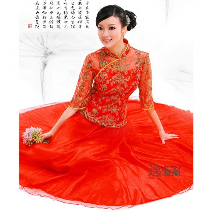 Robe chinoise (robe de soirée) rouge