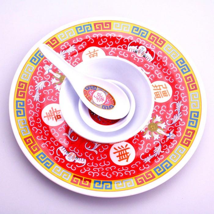 Set vaisselle motif impérial