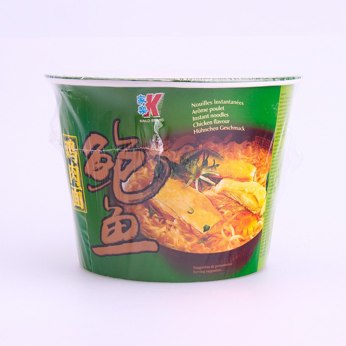 Soupe nouilles saveur poulet et fruits de...