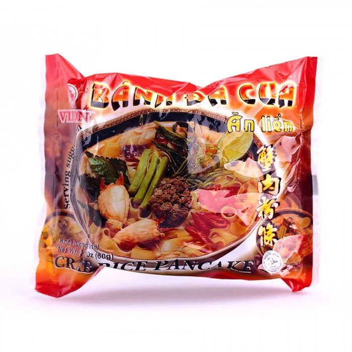 Soupe vermicelles (larges) saveur crabe 60g