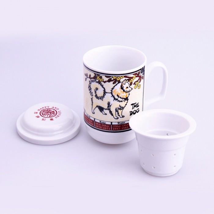 Tasse de thé signe chinois chien