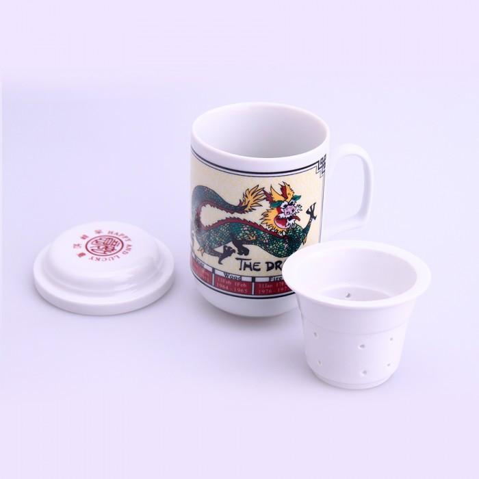 Tasse de thé signe chinois dragon