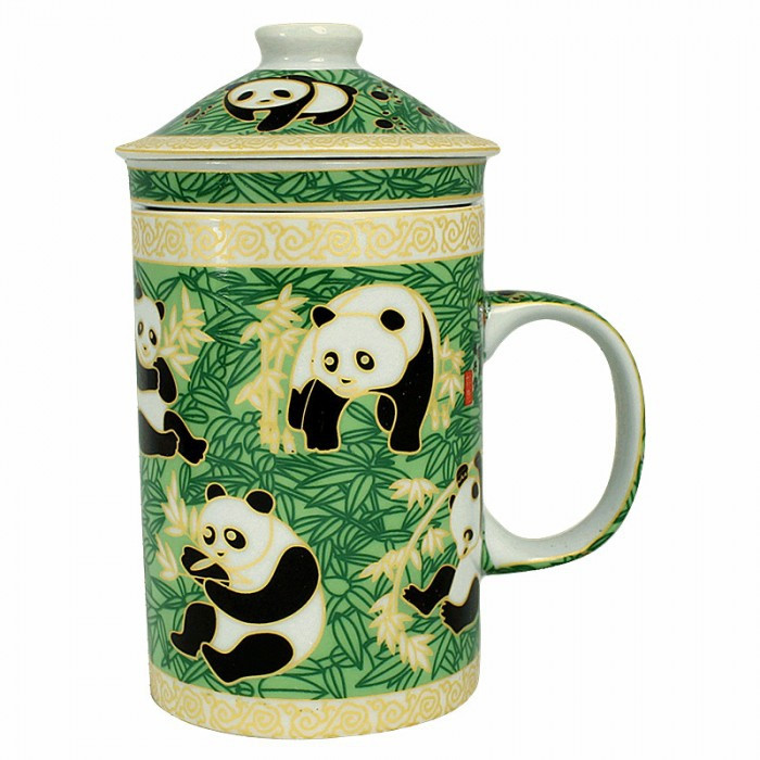 Tasse avec filtre motif panda