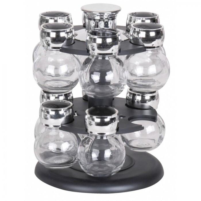 Tour à épices rotative avec 12 pots en verre