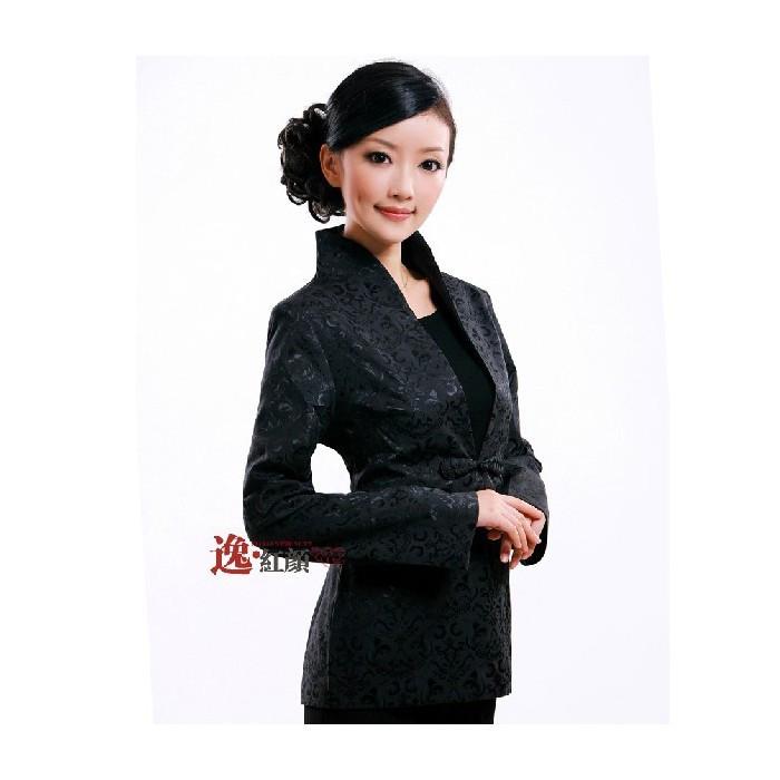 Veste noire avec éléments chinois