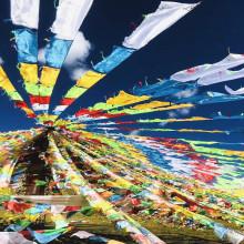 Drapeaux tibétain rouleaux de 5 mètres