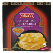 Pappadums (galette indienne) saveur piment vert 110g