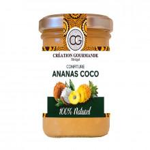 Confiture ananas coco sans colorant ni conservateur et sans arôme artificiel 200g