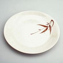 Assiette plastique rond motifs Bambou