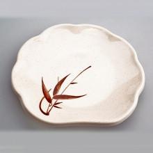 Assiette plastique ronde dentelle