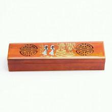 Boîte à encens en bois précieux vietnamien.