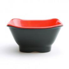 Bol carré rouge et noir