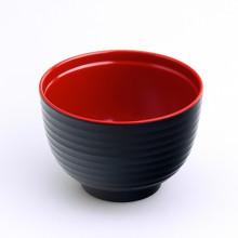 Bol noir et rouge 10cm diamètre