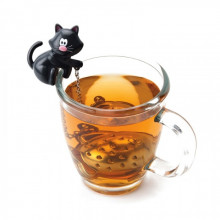 Boule à thé chat infuseur poisson
