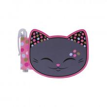 Carnet tête de chat gris avec stylo MANI