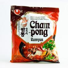 Carton de 20 Soupe de nouilles Saveur fruits de mer aux épices et kimchi (Cham Pong ramyum) 124g