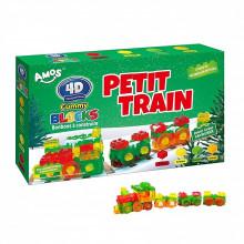Bonbon à construire 4D Gummy Blocks Petit Train avec voie ferrée imprimée 450g