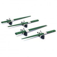Coffret baguettes motifs bambou avec les poses baguettes en forme de pandan