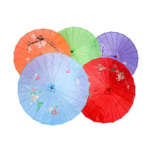Ombrelle asiatique coloré en toile et bambou 40cm
