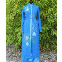 Ensemble tunique et pantalon bleu